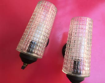 Deco ' pair of art deco glass/Pair of wall sconces