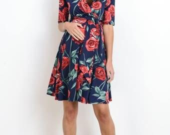 Hello Miz Floral Wrap Nursing/Maternity Dress
