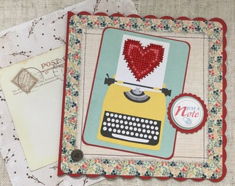 Handmade card / blank card / cross stitch card / just a note card