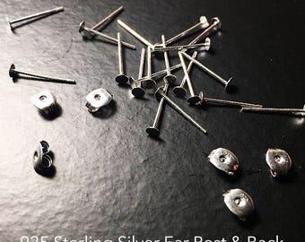 Add-on 925 sterling silver stud earrings/ ear posts