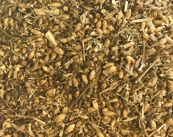 Dried YARROW FLOWERS, cut and sifted. Achillea millefolium. Sold by weight.