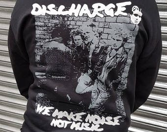 Discharge - Noise not Music Zip hood. *SUPER LIMITED*