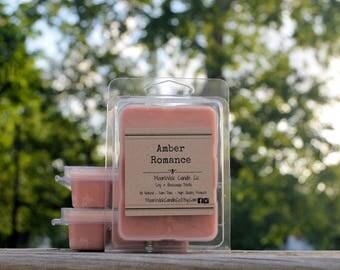 Amber Romance Melts   6 pk Soy and Beeswax Melts   Soy Melts   Amber Melts   Very Strong Wax Tarts   Wax Melts   Beeswax Melts   Natural Soy