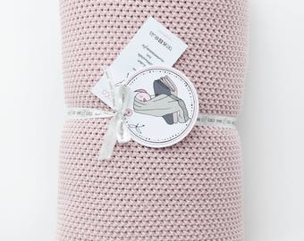 Blanket 100% cotton Coco Large rose