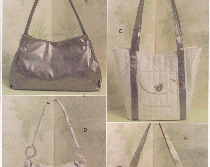 Free US Ship Vogue 8506 Sewing Pattern Accessories Fabric Purse Tote Hand Bag Handbag New 2008 Out of Print Factory Folded