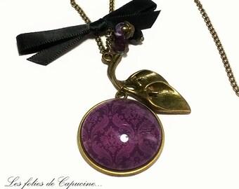 Large CABOCHON •MADAME DUBARRY• necklace