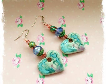 "Earrings ""Silk flowers"""