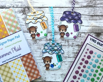 Homemade Set of 3 Mason Jar Tags