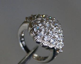 ON SALE Elegant CZ Silver Ring