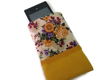 cover/case cell phone, glasses yellow flowers red green purple
