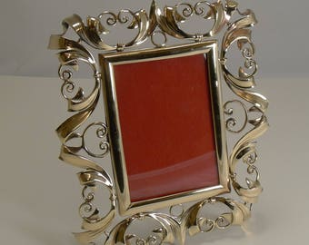 Stunning Antique English Brass Photograph Frame c.1890
