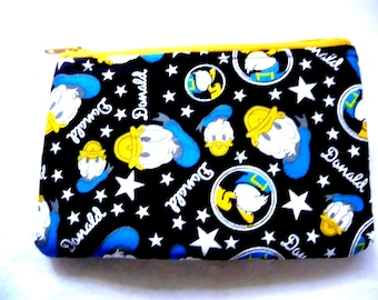 coin purse with cartoon duck made from duck fabric