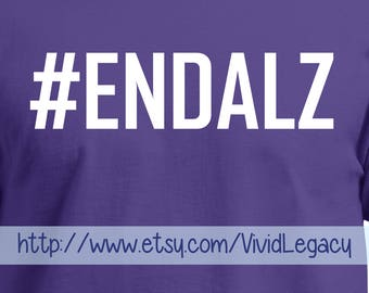End Alzheimer's #EndAlz Men's Purple T-Shirt Alzheimer's Unisex