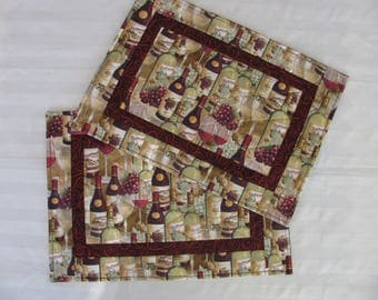 Placemats- WINE BOTTLES 2