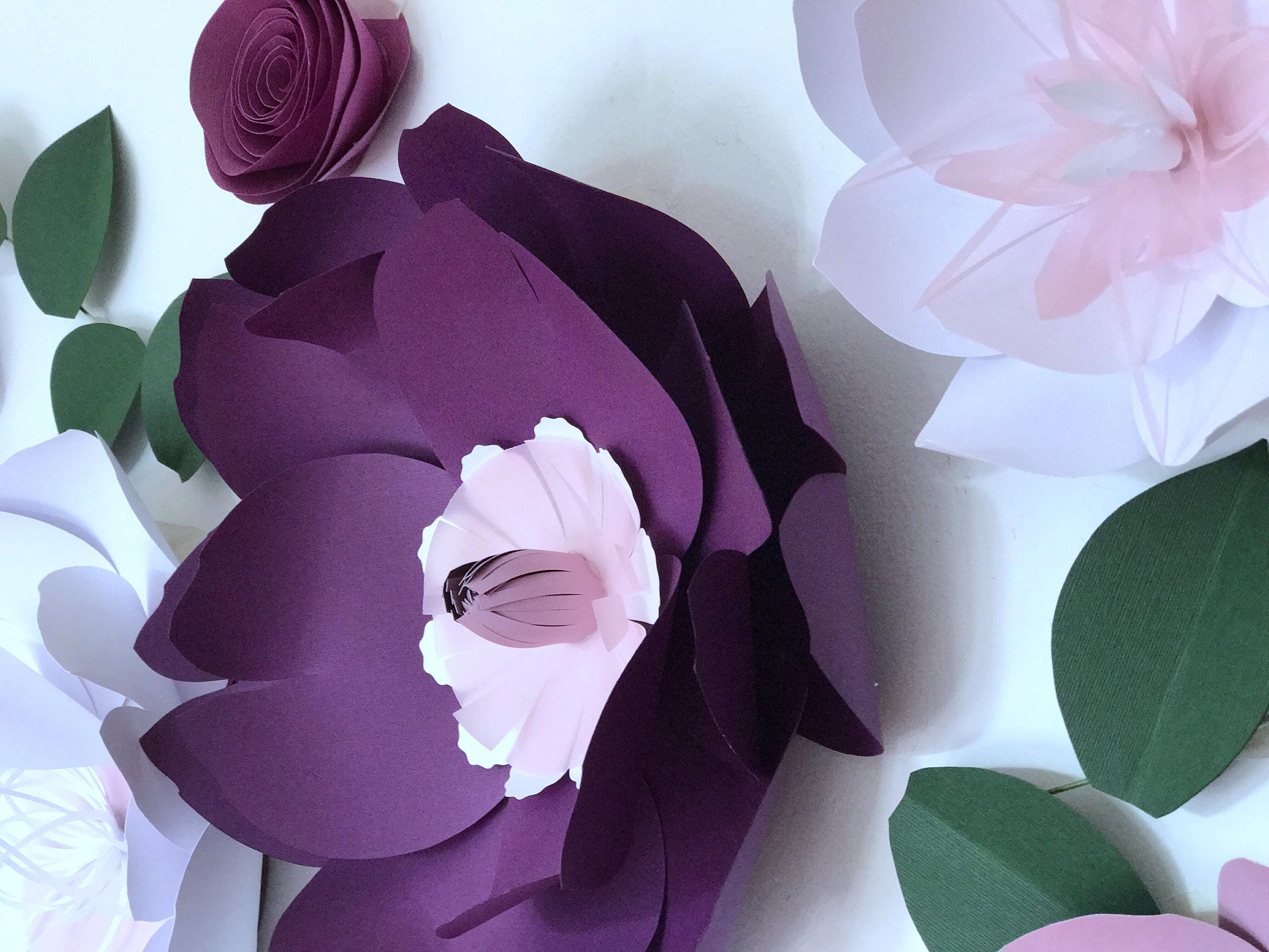 Paper flowers wall decor baby girl nursery room paper flowers paper flowers wall decor baby girl nursery room paper flowers wall decor above the crib decor large paper flowers lavender paper flowers amipublicfo Image collections
