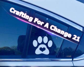 Paw Print with Heart Vinyl Decal, Paw Print Decal, Pet Decal, Dog Decal, Car Decal, Vinyl Decal, Vinyl Sticker, Laptop Decal, Yeti Decal