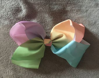 Large Pastel Knot Hair Bow Clip