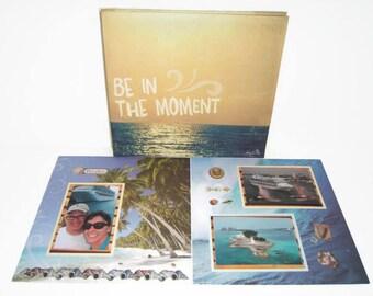 Cruise Vacation Scrapbook Album - Travel Scrapbook Album - Premade Cruise Scrapbook Album - Travel Scrapbook Album - Premade Travel Album