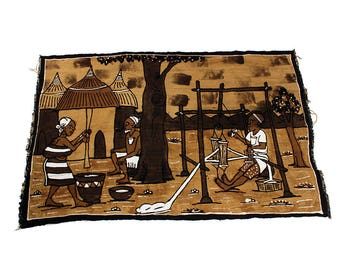 Giant Size Mud Cloth Wall Hanging