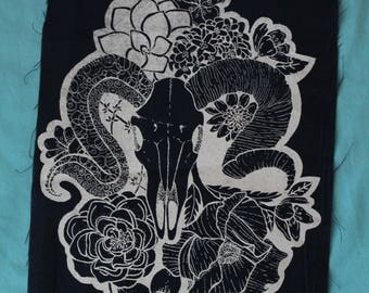 Floral Skull Misprints - Discounted back patches!