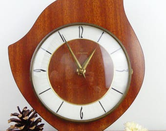 RESERVED FOR LEI - Wall Clock - Clock Junghans - Vintage wall clock - Formica Clock - 1950 - Design