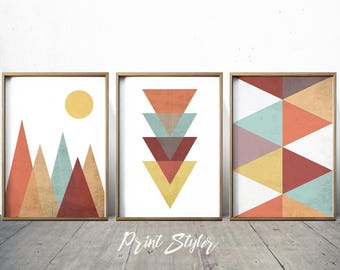 Geometric Art Prtints Geometric Wall Art Geometric Art Nordic Print Scandinavian Art Geometric Decor Geometric wall art Print Styler