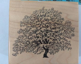 Snow Covered Great TREE Large Rubber Stamp for Card Making Or Scrapbooking