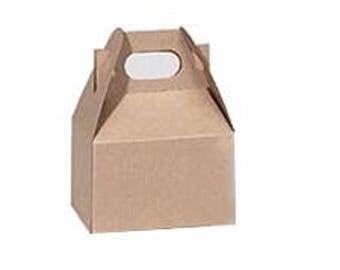 Mini Kraft Gable Boxes - set of 10