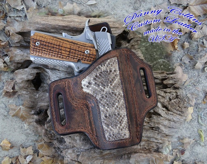 1911 Holster With Rattlesnake Inlay