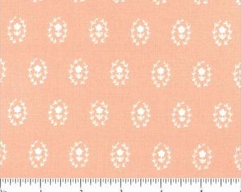 Fresh Dew Flower Medallions Salmon by Paula & Waffle for Dear Stella Fabrics – SPW725 Salmon Dear Stella ZD-70177-002