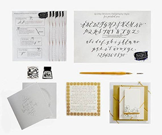 Calligraphy Kit By Kirsten Burke Beginners Gift Set