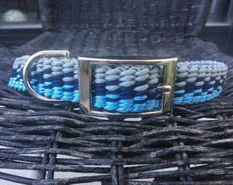 Blue Grey Dog Collar