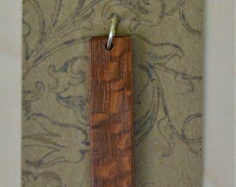 Leopard Wood pendant