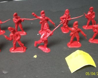 American Revolutionary War Hessians Soldiers BMC 10 Burnt Orange Colored Vintage Playset Soldiers(Army Men)