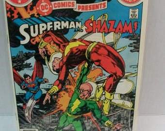 DC Comics Presents  Annual #3 Superman And Shazam VG-VFine Unread DC Comics Long Crease Down Middle Of Cover Vintage Comic Book