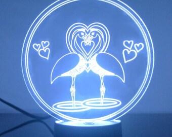 Flamingo Lovers Colour Changing LED Acrylic Light