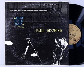"Paul Desmond - ""First Place Again"" Playboy - Vintage Vinyl Record Album 1960 Stereo Cool Jazz"
