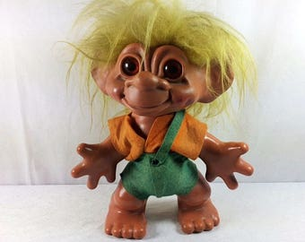 1960s Dam Troll Doll Boy - Iggynormus Troll - 12 inches - REALLY BIG - Dam Things - 1964 Dam Troll