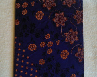 Purple and Orange Fabric Covered Travel Sketchbook