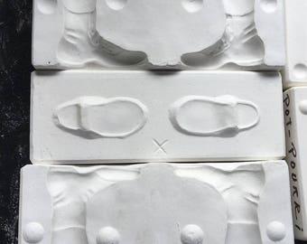 Vintage Estate Porcelain Doll Boots Shoes Ceramic Mold 495 Bil-Mac PT