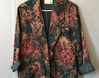 1980's Floral Blazer