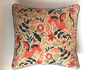 """Horse Pillow Cover Only 16""""x16"""" 
