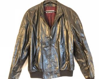Vintage Men's Leather Jacket By Fred Asher