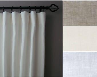 Blackout Linen Curtains: 100% Linen, Regular or Extra Wide