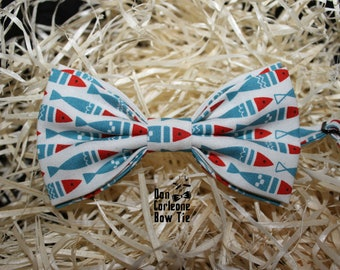 Blue fish bow tie,Gift for Him, Gift for Dad,Men's Bow Tie, Bow Tie For Men, Bow tie for boy , wedding bow tie