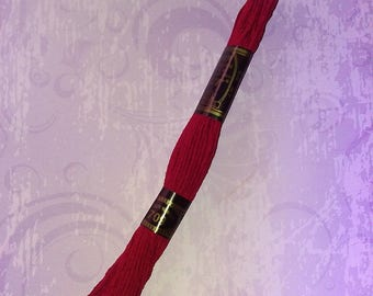 1 skein of Burgundy yarn 100% cotton 8 m
