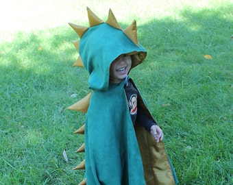 Dinosaur Hooded Kid's Cape Sewing Pattern, cape tutorial, children's sewing pattern Digital Download PDF