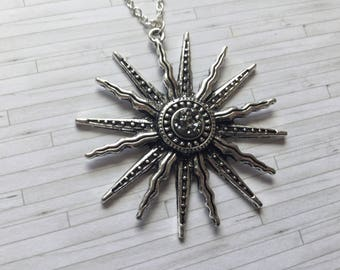 Sun Necklace, Sun Jewellery, Boho Jewellery, Alternative Necklace, Gift for Her, Gift for Friend, Gift for Sister, Birthday Gift