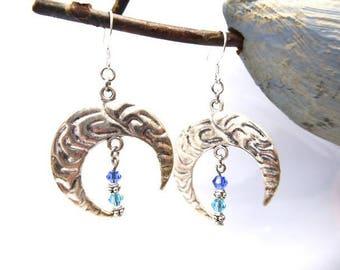 Earrings get me the Moon hangs in 925 Silver