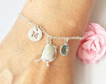 Bird bracelet, silver bird bracelet, silver jewellery, silver jewelry, silver bird, bird, silver bracelet, birthday gift,